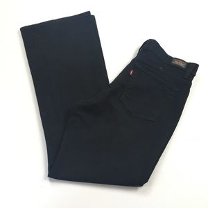 Levi's 512 Slimming Bootcut Black High Rise Jeans